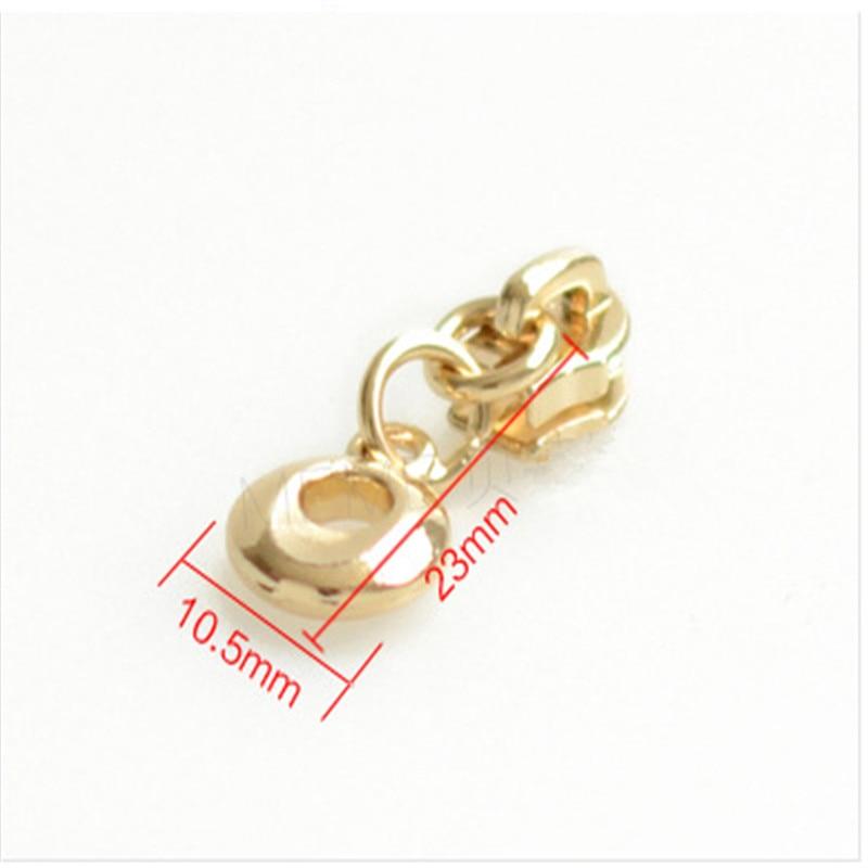 10pc Gold Nylon Zipper Pull Head 3 Ring Zipper Head Florists
