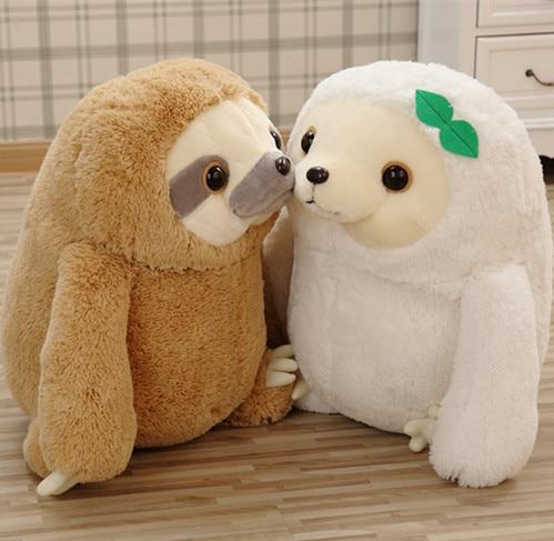 100%Orignal Quality Sloth Plush Toy Sloth Soft Stuffed Doll Cute Sloth Plush Gift Simulation Sloth Doll Free Shipping