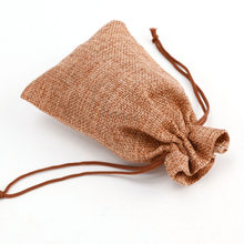 for Wedding Favor Hessian Burlap Jute Gift Bags Drawstring Pouch Ornament(China)