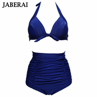JABERAI Vintage ביקיני סקסי Push Up Biquini נשים גבוהה מותן בגדי ים ביקיני סט בגד ים בגד ים כוס גדולה בתוספת גודל 4XL