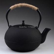 Estilo japonés Tetera De Hierro Fundido Tetsubin Tetera Con Colador 1800 ml Capacidad de Agua de color Negro