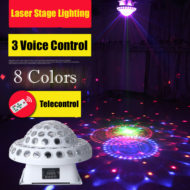 KTV Disco Light Sound Control Color Lamp LED Stage Light Stroboscope Bar Laser For Disco DMX Laser Projector DJ Party Lighting tinhofire remote control 48 design led stage light lamp rg laser projector stage light 12v strobe laser dj disco party ktv