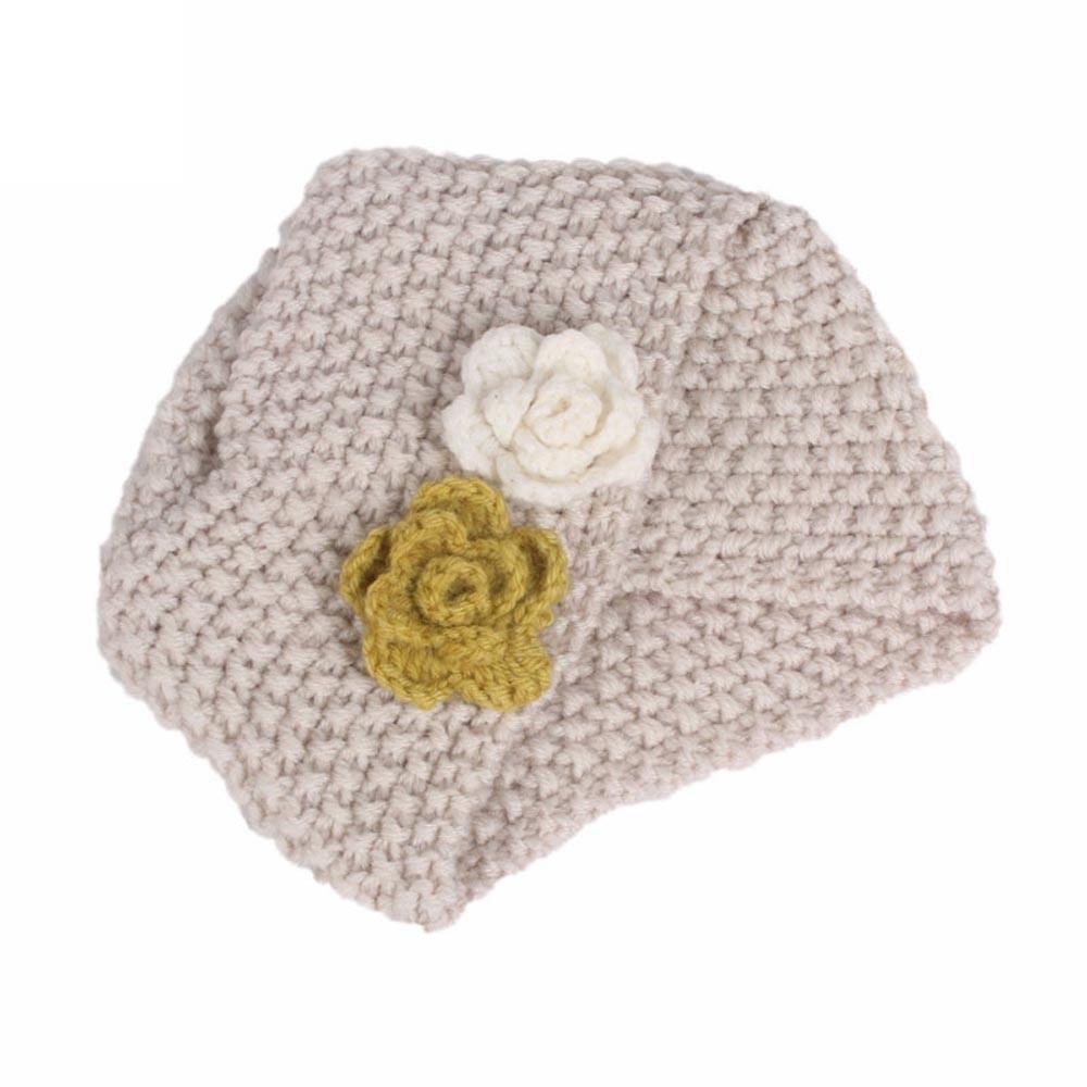 Children Baby Girls Knitting Hat Beanie Turban Head Wrap Cap Pile Cap newborn photography props