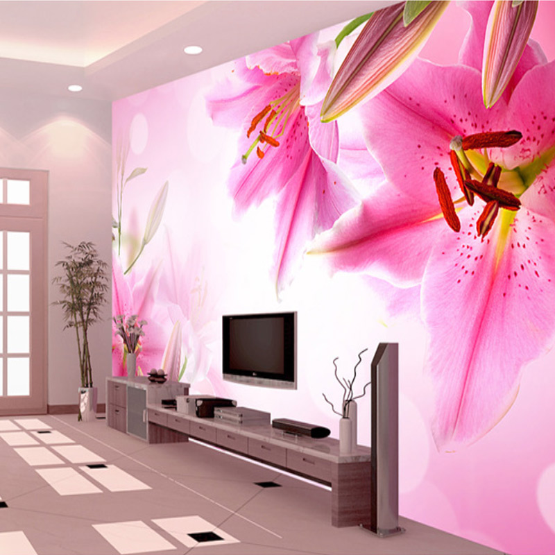 Custom 3d Photo Wallpaper Wall Mural Chinese Style Beautiful Flowers Living Room Sofa Background