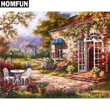 HOMFUN Full Square/Round Drill 5D DIY Diamond Painting House Garden Embroidery Cross Stitch 5D Home Decor Gift A06735 homfun full square round drill 5d diy diamond painting garden