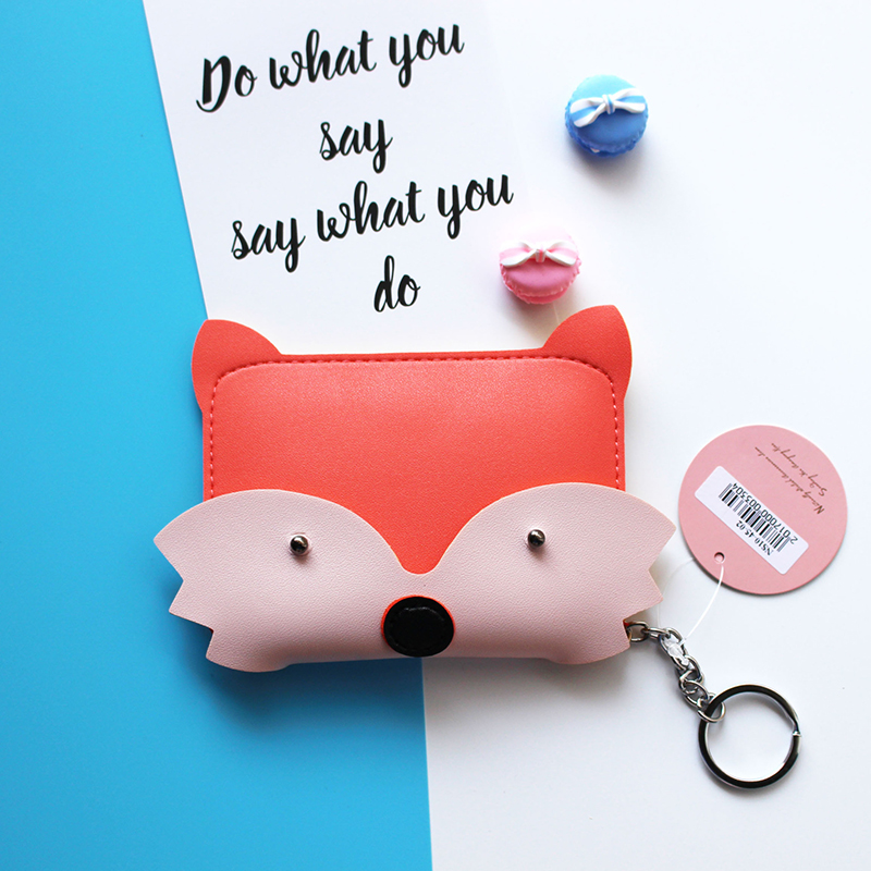 eTya New Style Cartoon Cute Animal Coin Purse Key Bag Fashion PU Credit Card Storage Coin Bag Student Wallet Women Girl Purses etya bank credit card holder card cover