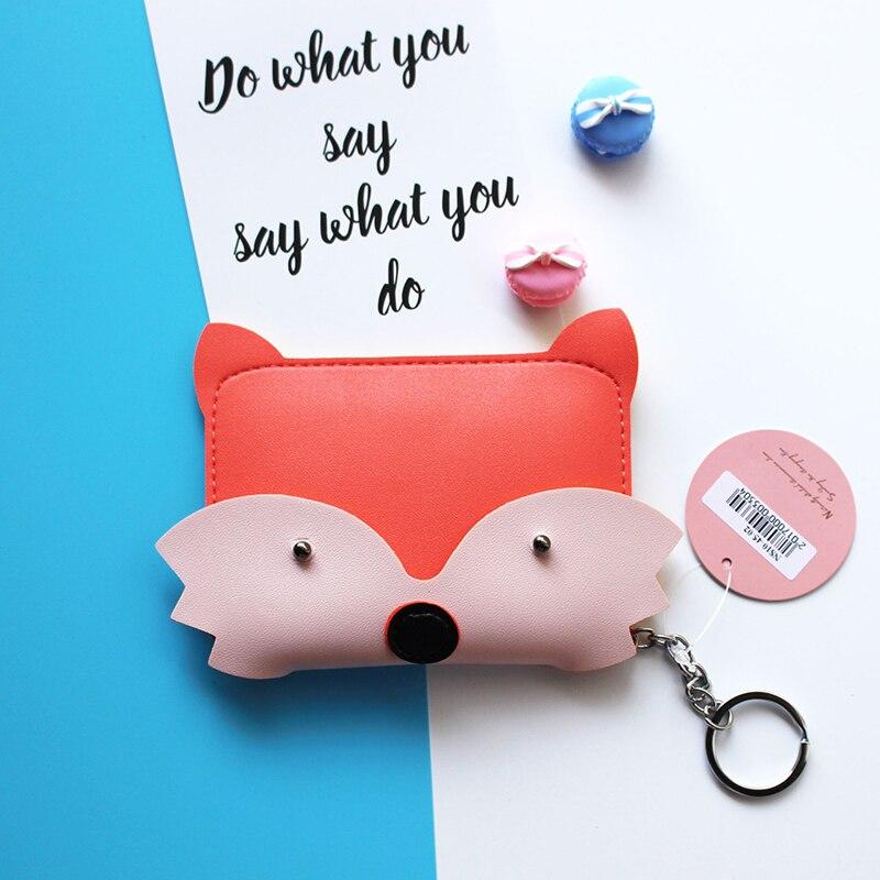 eTya New Style Cartoon Cute Animal Coin Purse Key Bag Fashion PU Credit Card Storage Coin Bag Student Wallet Women Girl Purses