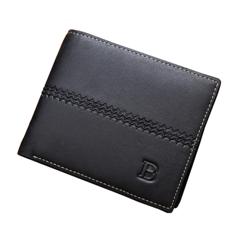 Men Wallet Genuine Leather Women Card Coin Holder 2017 Short Vintage Small Money Clip High Quality Photo Male Purse Portomonee qoong fashion men women genuine leather female ultrathin wallet money credit card holder clip short design male purse ml1 012
