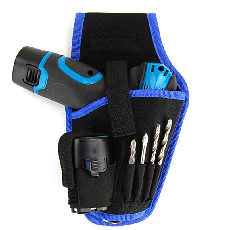 Quality Electric Drill Tool Pockets Protective Sleeve With Belt Lithium Drill Bag Electrician Pockets Tool Bag Bodypack