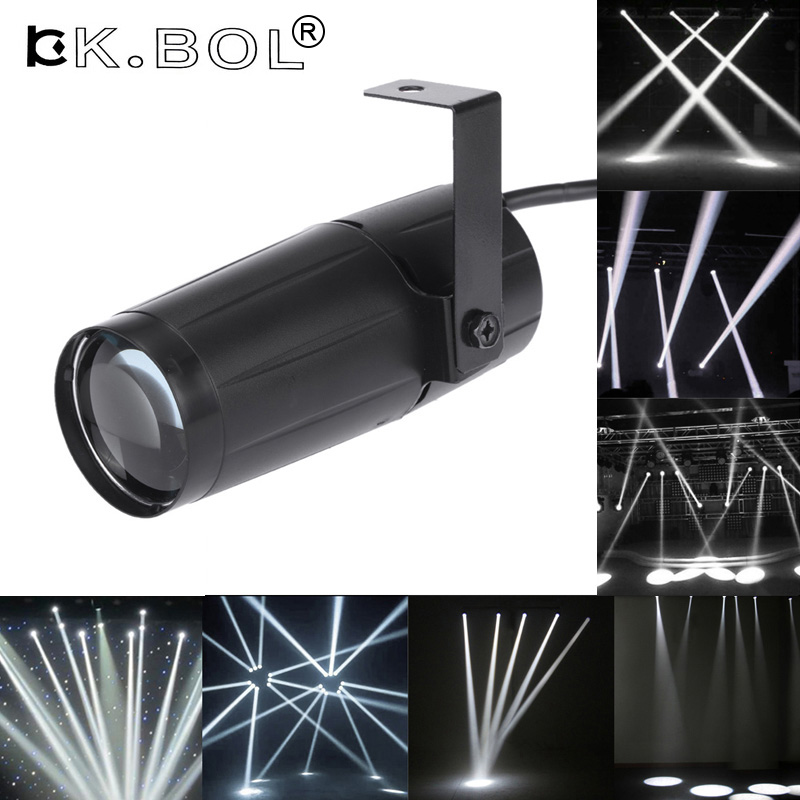 Cool Total 5W LED White Beam Pinspot Light Spotlight Super Bright Lamp Mirror Balls DJ Disco Effect Stage Lighting for KTV DJ new professional 5w led spotlight pinspot spot lamp beam blue spot stage beam lighting for disco beam dj party