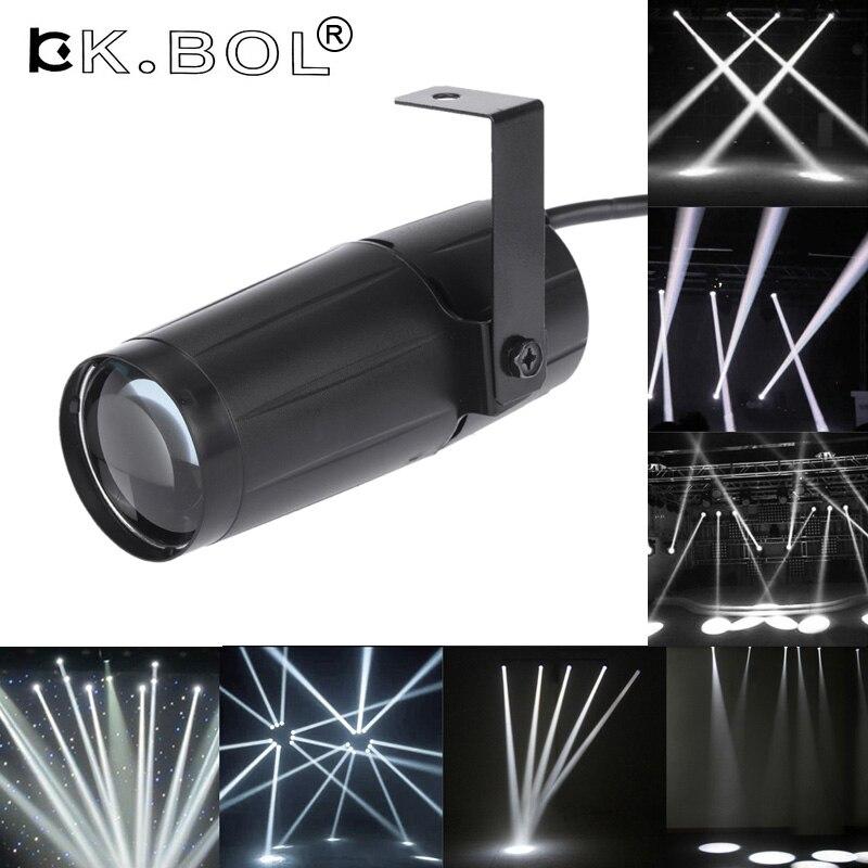 Kühlen Insgesamt 5 watt LED Weiß Strahl Pinspot Licht Scheinwerfer Super Helle Lampe Spiegel Kugeln DJ Disco Wirkung Bühne Beleuchtung für KTV DJ