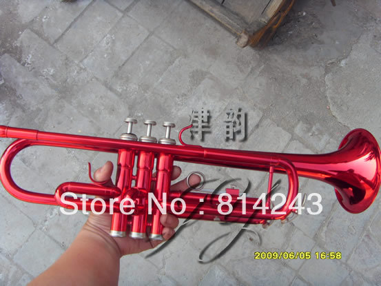 Custom Bb Trumpet Small Brass Instruments Surface Big Red Bb Trumpet  Professional Trompete Musical Instrument