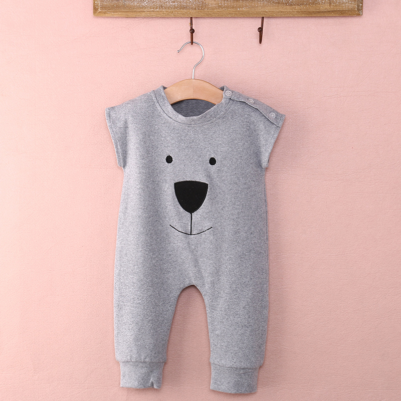 Cute Newborn Rompers Baby Girls Boys Bear Sleeveless Jumpsuit Infant Outfits Clothes 0-24M
