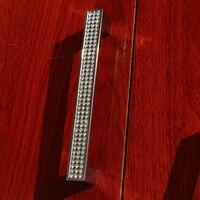 Стеклянные Кристальные ручки 128 мм  блестящие серебряные кухонные ручки  хромированные ручки для шкафа  гардеробные  мебельные ручки 5 дюймо...