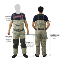 Outdoor Fly Fishing Waders Stocking Foot Chest Waders Affordable Breathable Waterproof Chest Wader