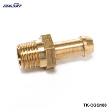 ทองเหลือง Hex Hose Barb Fitting Boost หัวนมสำหรับ Garrett T2 T25 T28 T3 T34 Turbo 1/8 TK-CGQ188(China)