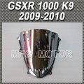 Motorcycle Accessories double Bubble Windshield/Windscreen - Silver For Suzuki GSXR 1000 K9 2009 2010 09 10