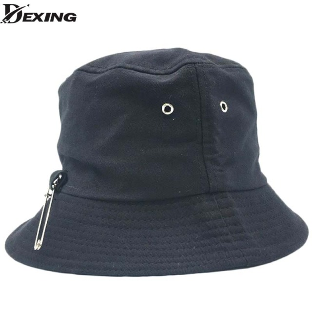 2018 BTS SUGA Fashion KPOP Iron Ring Bucket Hats popular style cap 100%  handmade Iron rings big pin panama caps e6d675a131e