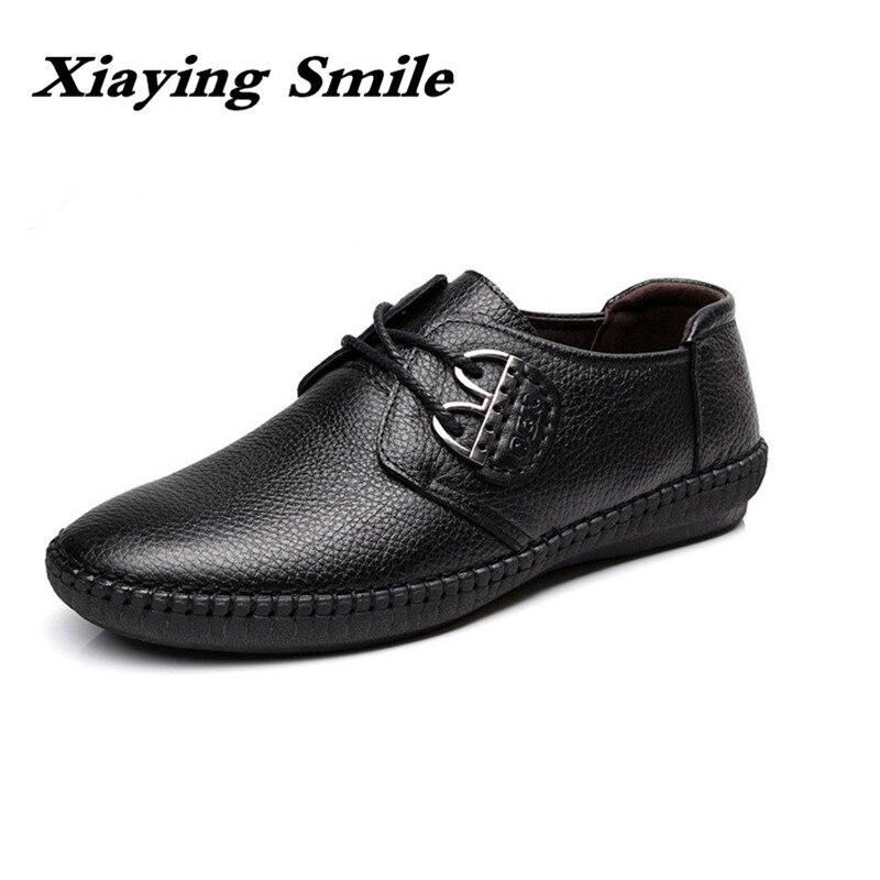 Мужская модная кожаная обувь, Рабочая обувь на шнуровке, деловая повседневная обувь из натуральной кожи на плоской подошве, Мужская обувь д...