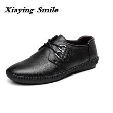 Männer der Mode kuh Leder Schuhe Arbeits Schuhe Lace Up Business Casual Echtem Leder Schuhe Wohnungen Männlichen sneaker Zapatos De hombre