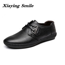 Men's Fashion Leather Shoes Working Shoes Lace Up Business Casual Genuine Leather Shoes Flats Male Skate Shoe Zapatos De Hombre