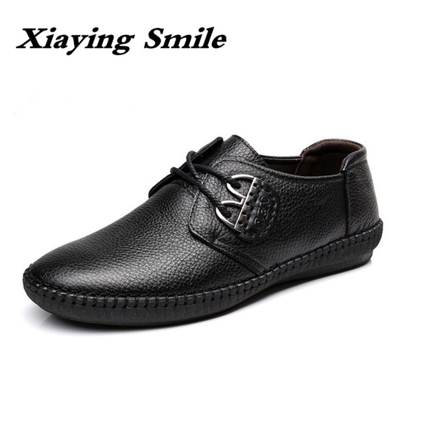 Mens Fashion cow Leather Shoes Working Shoes Lace Up Business Casual Genuine Leather Shoes Flats Male sneaker Zapatos De Hombre