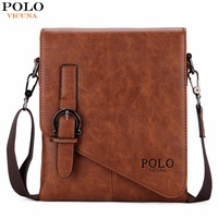 Awen Unique Buckle Design Irregular Cover Open Men S Vertical Messenger Bag 2 Size Business Men