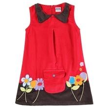 Girls Sleeveless Dress Lapel Embroidered Pocket Girls Children's Wear Flowers Summer New Style for Girls Dress Cotton H6038D все цены