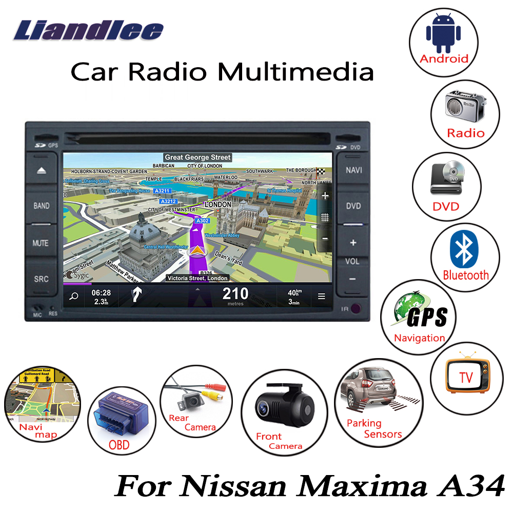 Liandlee For Nissan Maxima A34 2003~2008 Android Car Radio CD DVD Player GPS Navi Navigation Maps Camera OBD TV HD screen сумка st vatican florentino a34 s149ft a34 s149ft 2014