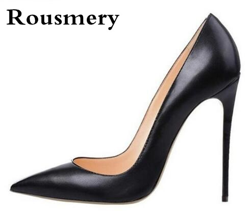 Women Classical Design Pointed Toe Black Nude Patent Leather Pumps Brand Shoes 10cm 12cm Formal High Heels Cheap Wedding Shoes women classical design silver pointed toe transparent pumps ankle buckle design 12cm high heels formal dress shoes