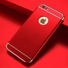 Роскошные золотые Жесткий Чехол для iPhone 7 6 6 S задняя крышка Покрытие Съемный 3 в 1 Fundas чехол для iPhone 6 6 S плюс 7 плюс сумка