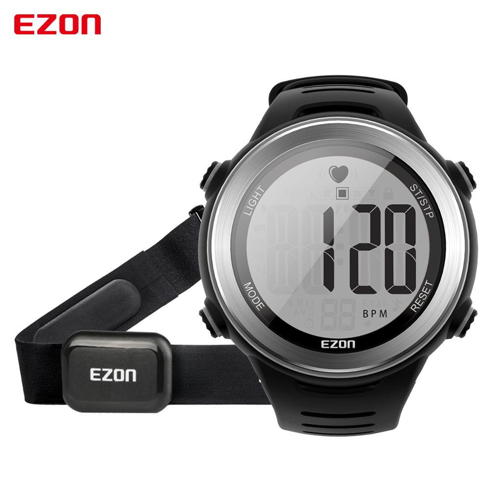 EZON Men's Sport Digital Watch 2019 Women Heart Rate Monitor Watch for Running Swimming Alarm Stopwatch Sport Wristwatch T007