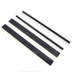 Image 4 - Бесплатная доставка, 1 партия = 10 шт., 1x40 контактов, 2,54 мм, Однорядный женский + 10 шт., 1x40 штырьковый разъем