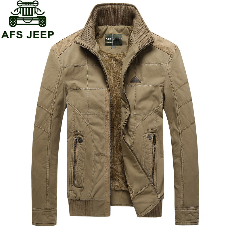 Jackets Fleece Mens Coats Winter Down And Parkas Jackets Brand-Clothing CLOTHES Warm Thicken Stand Collar Army Coats Asian Size