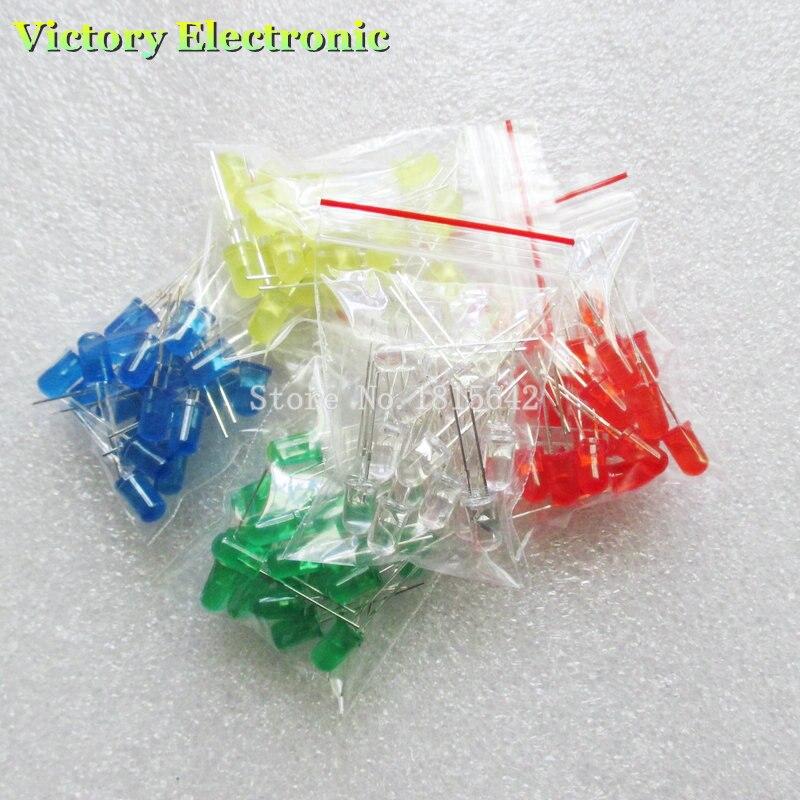 100 pz 5mm Led diodi Assortimento Led FAI DA TE Set Bianco Giallo Rosso Verde Blu kit fai da te elettronico