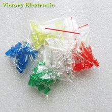 100pcs 5mm LED diode Light Assorted Kit DIY LEDs Set White Yellow Red Green Blue electronic diy kit