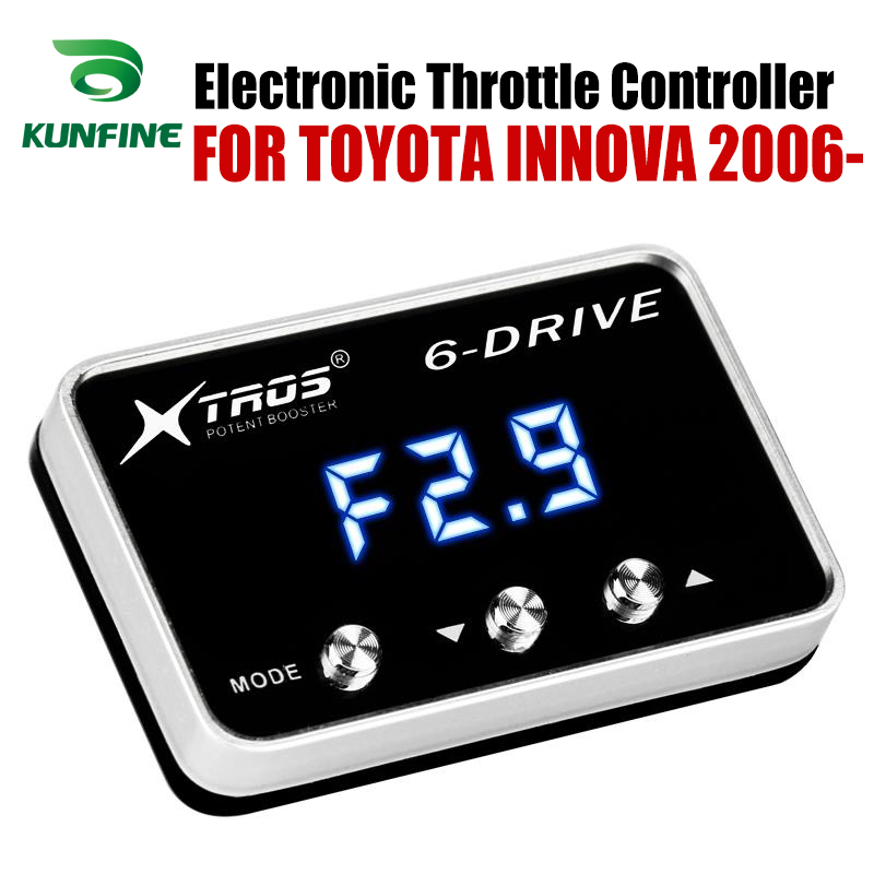 Car Electronic Throttle Controller Racing Accelerator Potent Booster For TOYOTA INNOVA 2006-2019 Tuning Parts Accessory