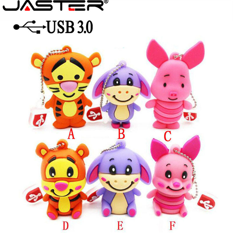 1pc 16GB Pink Pig Standing Animal Keychain USB Flash Thumb Drive USA Shipper