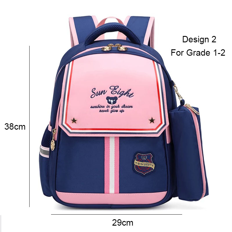 Image 3 - SUN EIGHT 1 2 Grade 15inch Girls Backpack School Bags For Kid Light Books Bag  Wholesale Price-in School Bags from Luggage & Bags