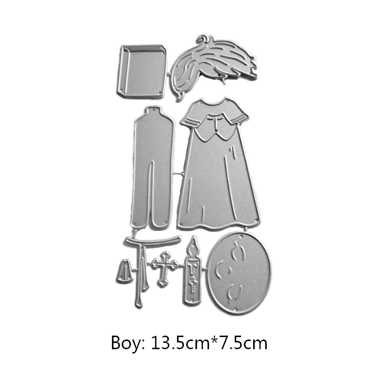 Swovo Ski boy girl Metal Cutting Dies Stencils for DIY Scrapbooking Album Paper