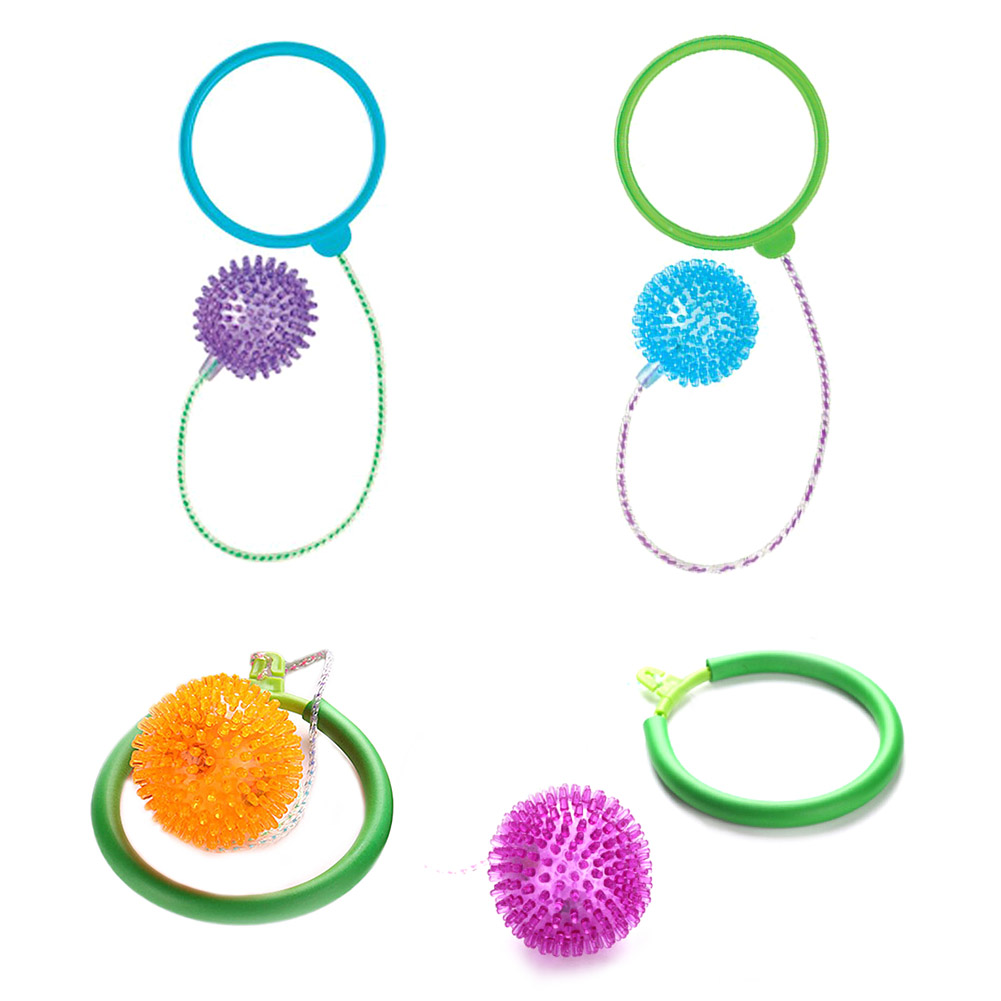 Jumping Ring Ball for Children Adult Sport Gaming Fitness Bouncing Ball PVC Throw Foot Ball Toys Creative ABS Unisex New