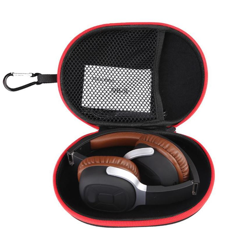 Portable Case for Headphones Case Mini Zippered Round Storage Hard Bag Headset Box for Earphone Case SD TF Cards Earphone shunwei sd 1604 mini flexible rolling door storage organizer case box black