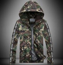 Green red grey autumn thin camouflage hooded jacket men coat for men 2016 man jacket mens