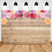 Mehofoto Wooden Backdrop Mothers Day Banner Backgroud Floral Photography Fathers Photo Background