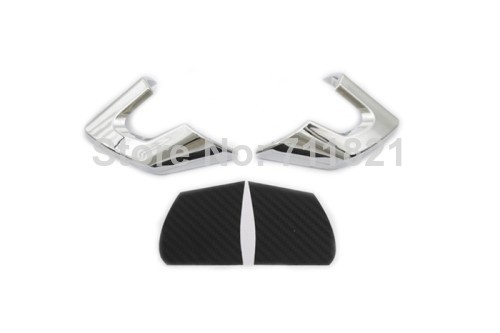Car Styling Chrome Steering Wheel Insert With Carbon Fiber Inlay For Volkswagen For VW Golf MK6