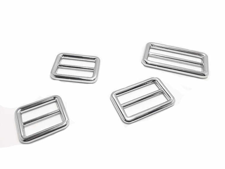 50PCS Saco de Artesanato de Couro Acessórios DIY Liga de Metal Retângulo Fivela de Fecho do Cinto Saco de Mão Bolsa DIY Patchwork