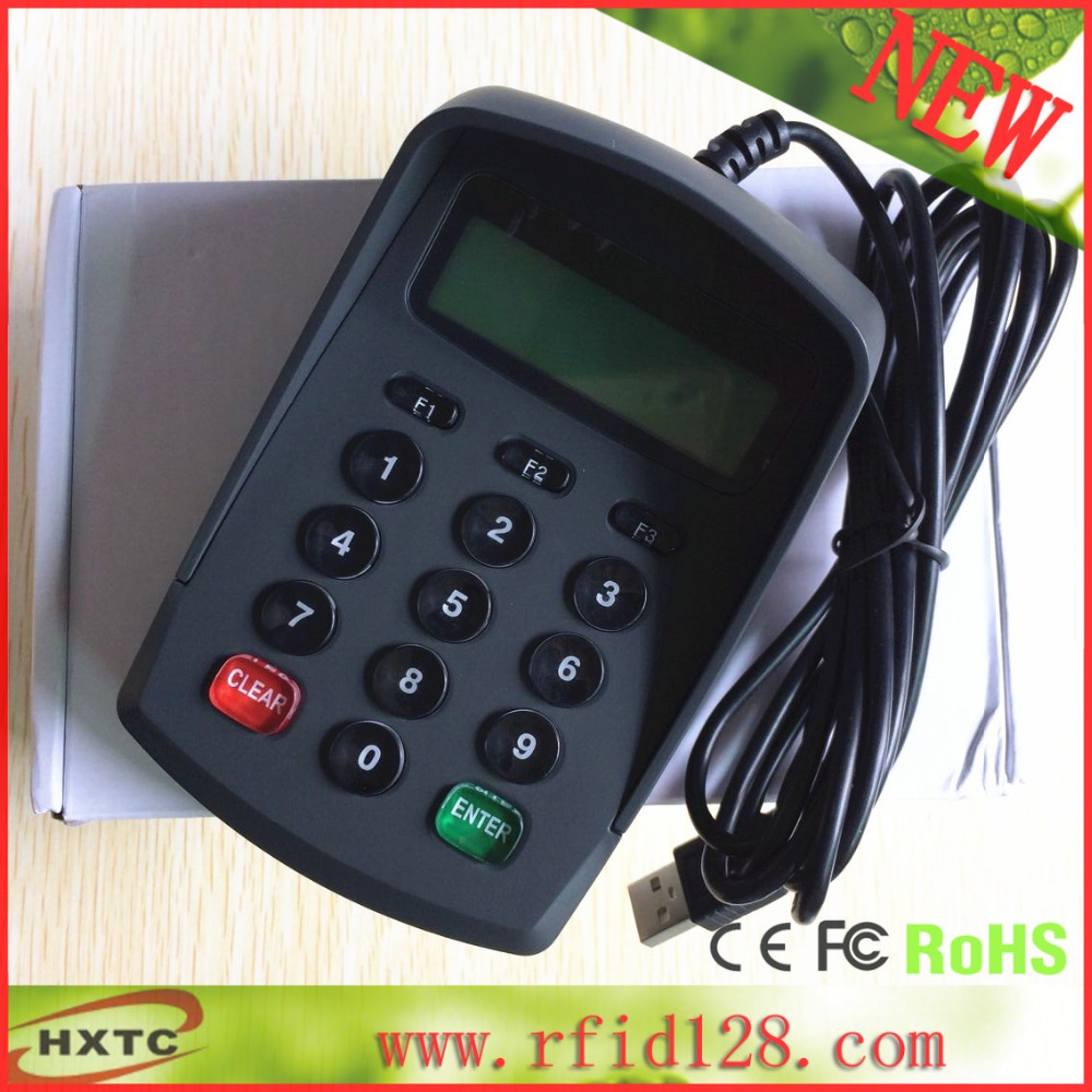ФОТО 2016  Programmable USB  15 Keys  Keyboard / Pin Pad YD591 Supoort ISO7816 Chip Card Slot with LCD For Client payment POS  system