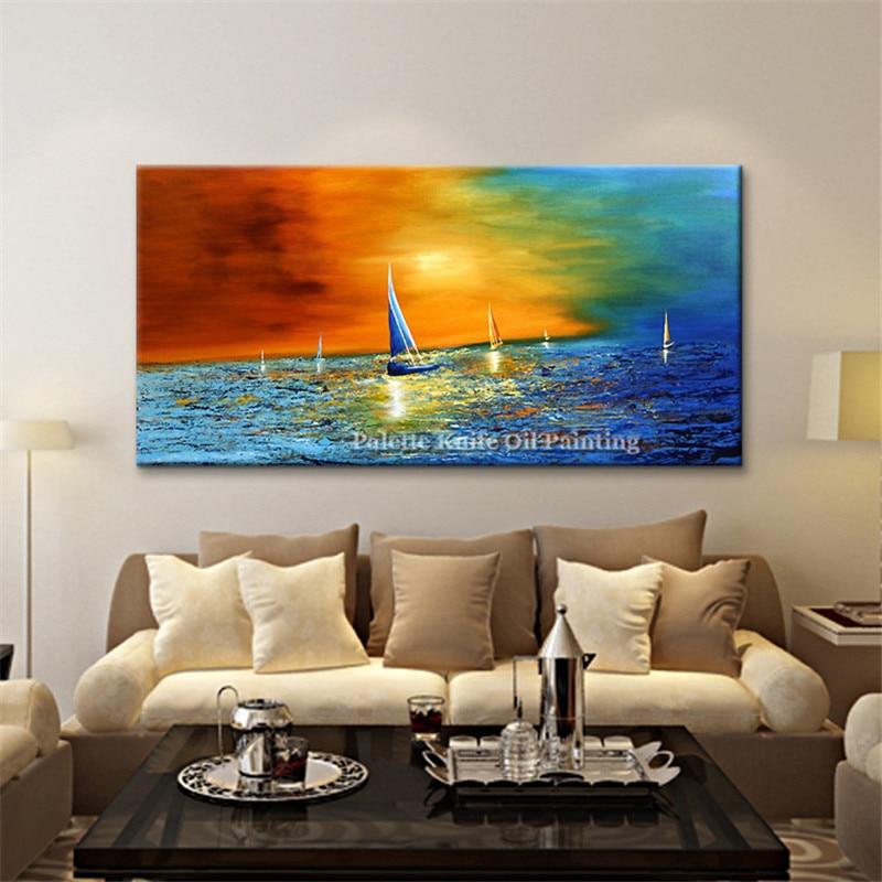 Canvas yağlı boya kaudros dekorasiyası Yaşayış otağı kvadrosu - Ev dekoru - Fotoqrafiya 4