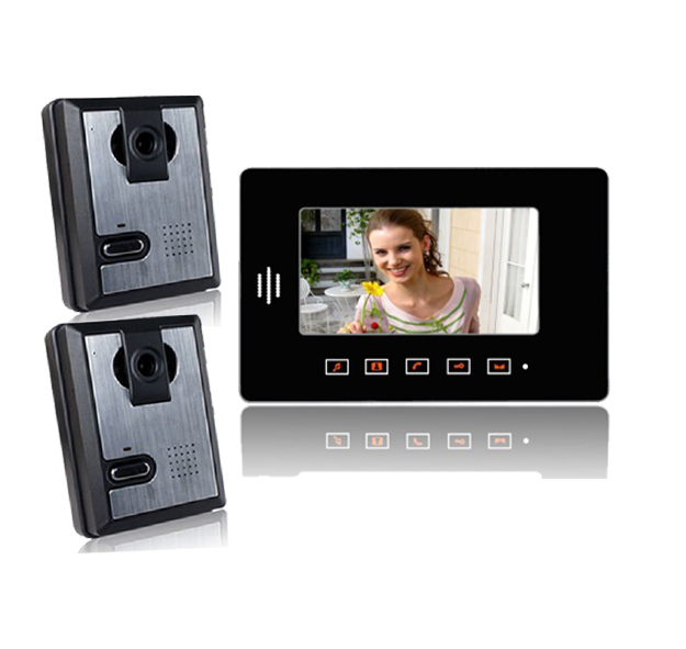 Yobang Security 7 TFT Wired Video door phone intercom apartment Doorbell +700TVL CMOS Camera for private house system