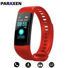 PARAXEN Inteligente Pulseira Pulseira Colorida Com Heart Rate Monitor de Pressão Arterial do Bluetooth Android Rastreador De Fitness